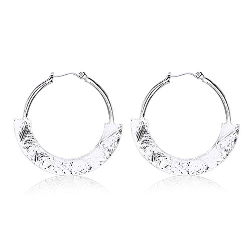 [Myun Bohemian Gypsy Simple High Polish Silver Plated Alloy Dangle Earring Stud for Women Fashion] (Simple Halloween Costumes For High School)