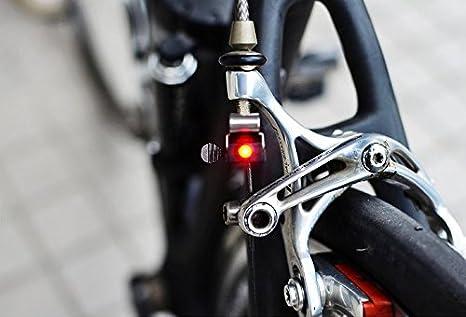 Nano bicicleta freno Luz LED Luz trasera para bicicleta bicicleta luz ...