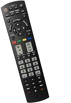 Nuevo Control Remoto Universal Panasonic TV de reemplazo Apto para los Botones Panasonic TV/Viera Link/HDTV / 3D / LCD/LED/APPS/Home N2QAYB000487 N2QAYB000780 N2QAYB000752 n2qayb000485: Amazon.es: Electrónica