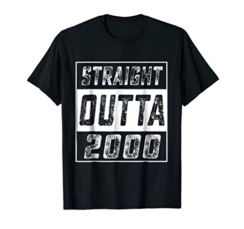 Straight Outta 2000 18th Years Old Shirt 18 Birthday Gift ()