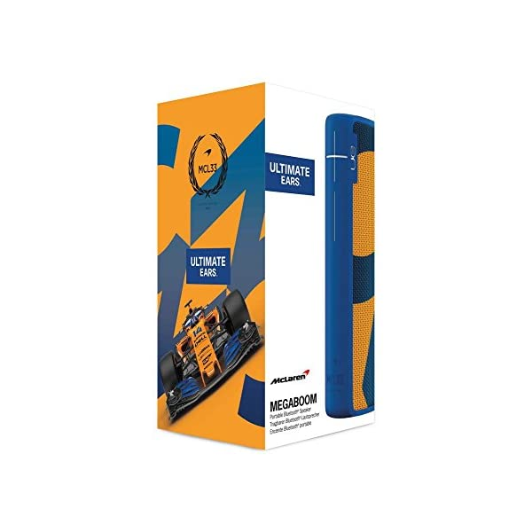 Enceinte MEGABOOM McLaren Sans fil/Bluetooth (Étanche et résistante aux chocs) - MCL33 - Bleu/Orange 6
