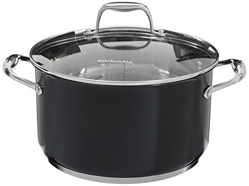 UPC 883049299167, KitchenAid KCS60LCOB Stainless Steel 6.0-Quart Low Casserole with Lid Cookware - Onyx Black