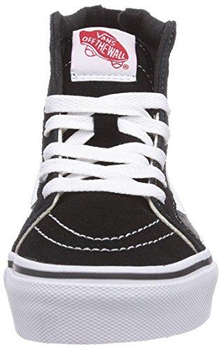 Vans SK8-HI ZIP - zapatillas deportivas altas de lona infantil multicolor - Mehrfarbig (Black/Charcoal BA5)