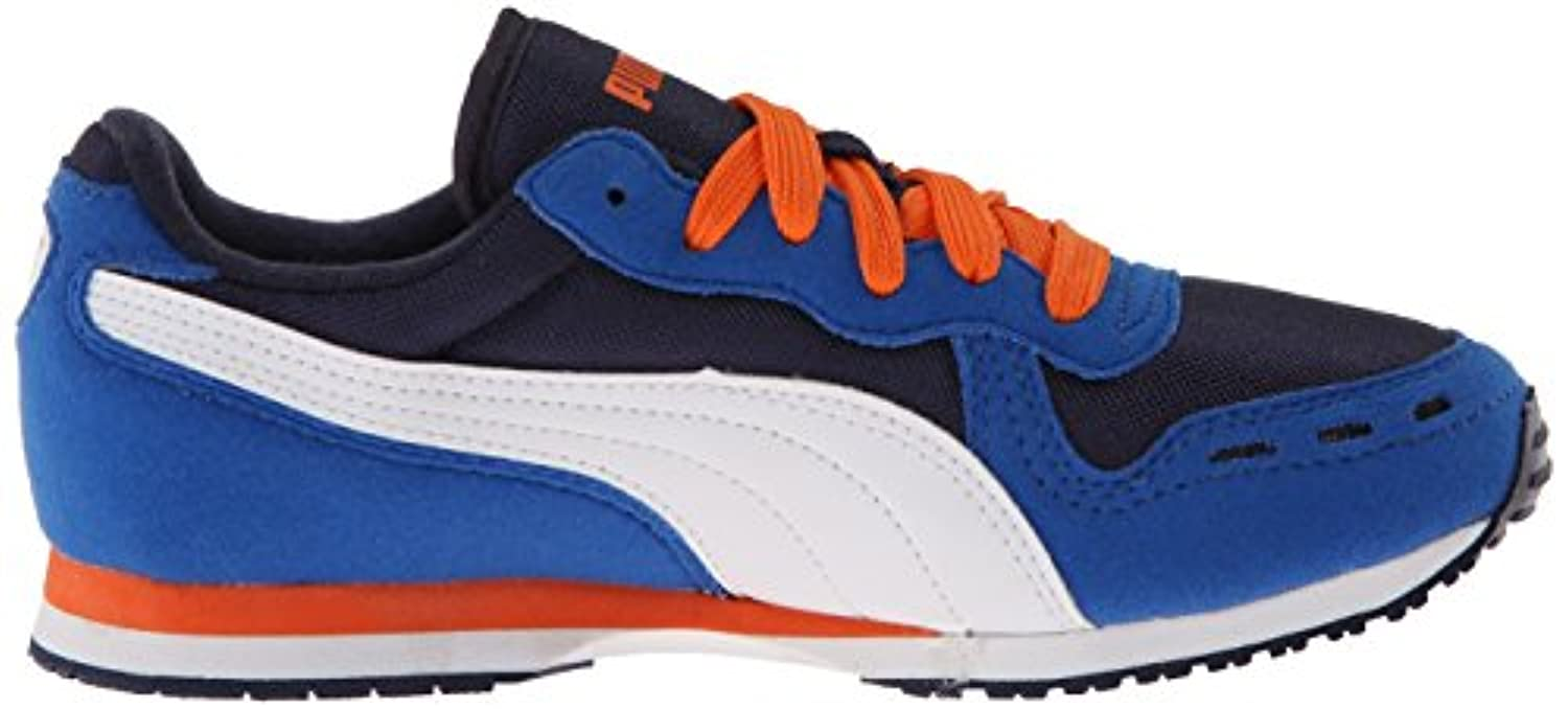 Puma Kids Cabana Racer Mesh Navy Blue Synthetic Trainers 2 UK