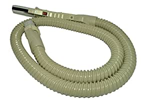 Electrolux Canister Replacement Electric Hose, designed to fit all metal body Electrolux Canisters, 1205, 1401, Diamond Jubilee, Silverado, Olympia, gray vinyl wire reinforced hose with On/Off switch on pistol grip handle