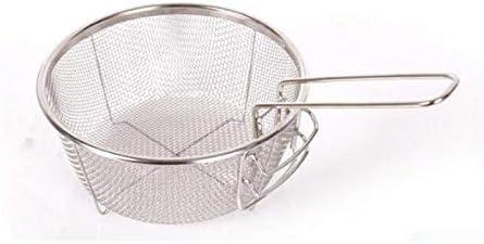 Scolapasta a Rete Sottile in Acciaio Inox setaccio per friggere Riso Frutta vegetale 19.5 X 19.5 cm Quadrato Medio LEYENDAS Colino Microperforato