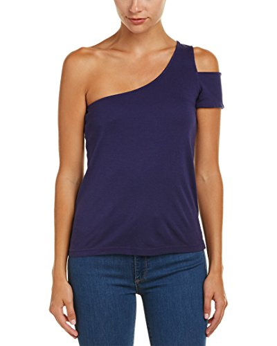 Splendid Womens One-Shoulder Top, L, Blue