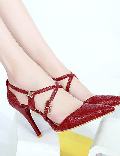 ShangYi Womens Shoes Heel Heels / Pointed Toe Sandals / Heels Office & Career / Dress / Casual Black / Red / White/789 White
