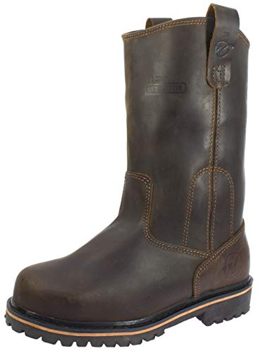 Westland Men's Texan Steel Toe EH Water Resistant Wellington Leather Work Boots (10) Coffee Brown