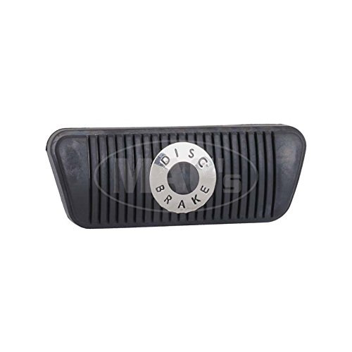 MACs Auto Parts 44-46151 - Mustang Disc Brake Pedal Pad for Automatic Transmission