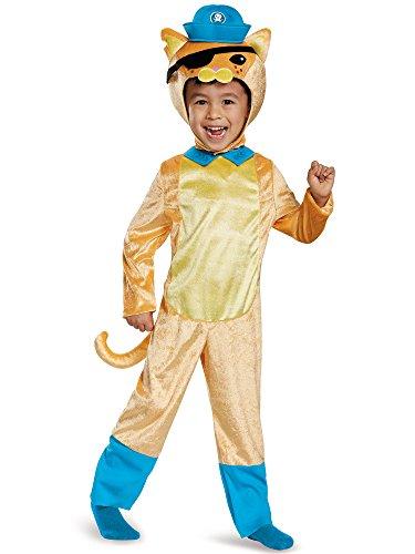 Disguise Kwazii Cat Classic Octonauts Silvergate Media Costume, Medium/3T-4T (White Cat Costume For Kids)