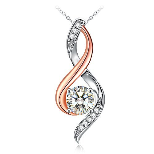 J.Rosée Sterling Silver Womens Two-Tone Twist Pendant Necklaces Christmas Jewelry Gifts