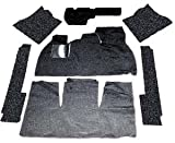 EMPI 3910 CARPET KIT VW BUG 69-72 Sedan 7-Piece With Footrest, Black