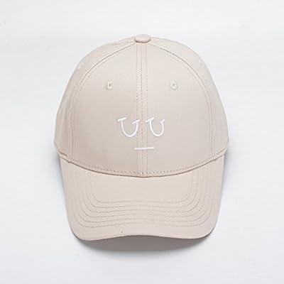 Sombrero femenino 2018 primavera y verano nuevo bordado coreano gorra de béisbol marea masculina sombrero de gorra de color sólido al por mayor,Beige,M ...