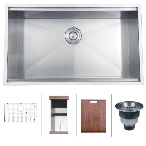 Ruvati RVH8300 Undermount Kitchen Single product image