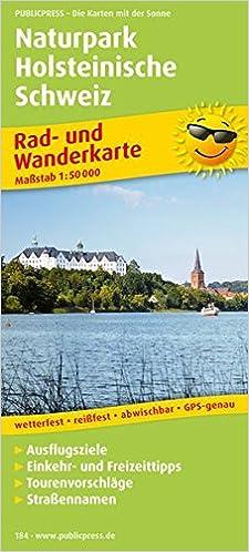Holsteinische Schweiz Karte.Naturpark Holsteinische Schweiz Rad Und Wanderkarte Mit