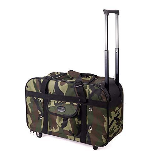 (Forgiven Pet Carrier Shoulder Bag Dog Cat Teddy Outing Carrying Case Pet Bag Chest Bag Trolley Bag Shoulder Pack (Pattern : Green Camouflage))