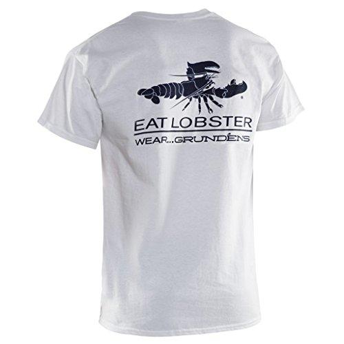 (Grundens ELT Eat Lobster Logo T-shirt, White - XXL)