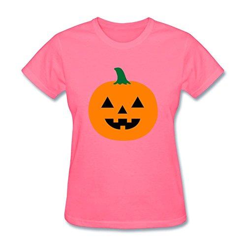 NYShirt Women's Halloween Jack-O-Lantern Short Sleeve T-Shirt -