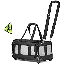 Sherpa on Wheels Pet Carrier, Black
