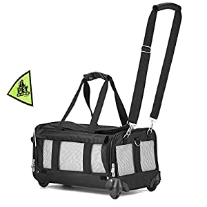 11. Sherpa on Wheels Pet Carrier, Black