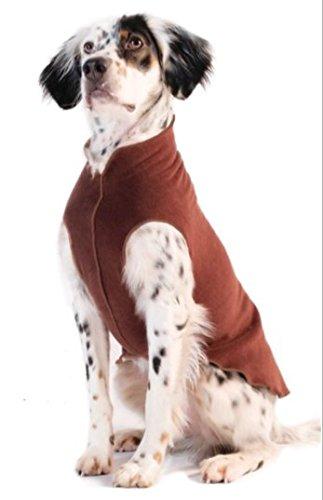 gold Paw Stretch Fleece Dog Coat Chestnut Brown Size 10