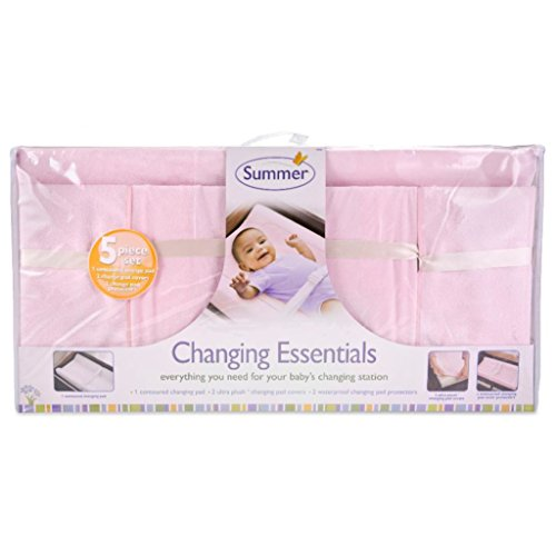 Summer Infant 5 Piece Changing Essentials Set - Pink