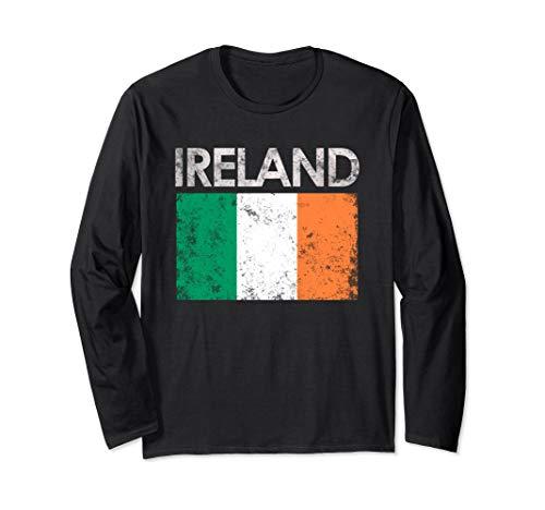 (Vintage Ireland Irish Flag Pride Long Sleeve)