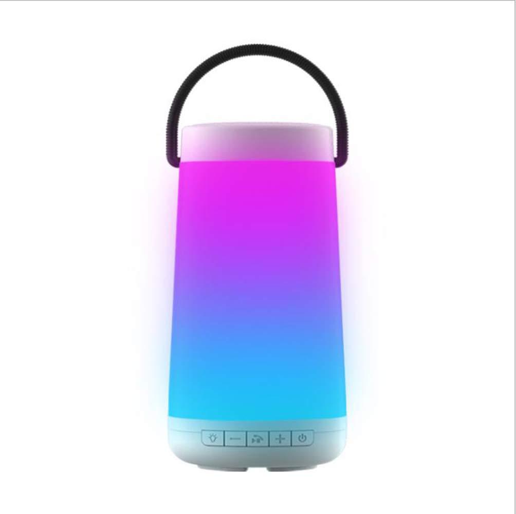 WIBIS Bluetoothスピーカー ポータブルLEDライト ワイヤレススピーカー スマートタッチコントロール RGBカラー 内蔵マイク 3Dサラウンドサウンド ハンズフリー アウトドアキャンプに最適 ホワイト 527-065-854  ホワイト B07MT5H3LZ