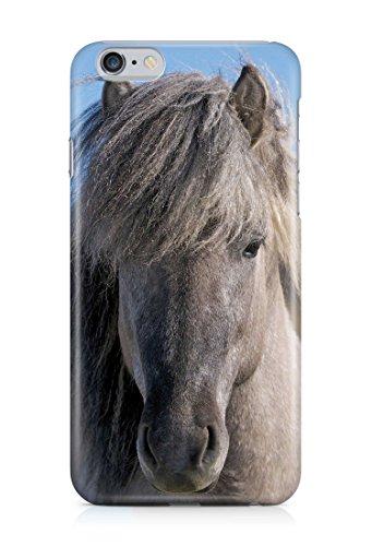 COVER grau Pferd Handy Hülle Case 3D-Druck Top-Qualität kratzfest Apple iPhone 6 Plus / 6S Plus