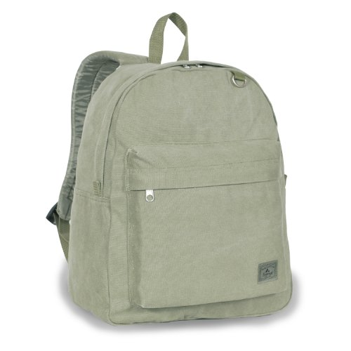 Everest Classic Laptop Canvas Backpack Color: Olive