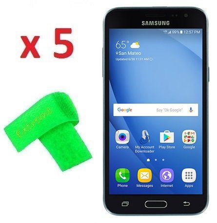 5 x Samsung Galaxy Sky S320VL Screen Protector Guard CLEAR PRE-CUT No Cutting Require Perfect Fit + EXTREME BRAND (5 x Clear Screen Protector)