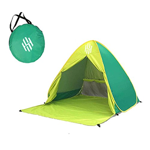 Pop Up Beach Tent – Portable Backyard, Swimming or Camping Outdoor Sun Shelter – UV Protection for Kids, Adults & Families – Lightweight, No Assembly Required T2 (GREEN)
