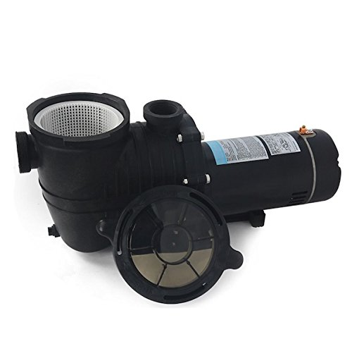 Plunge Pool (In-Ground Swimming Pool SPA Pump 2HP Motor Strainer Above In-Ground 115/230V Self Priming Compatible With DE Sand And Cartridge Filter Drain Plug High Durability Corrosion Proof Polymer)