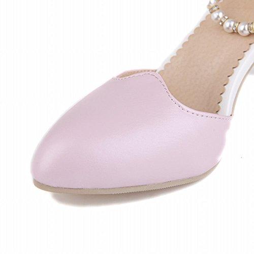 Donne Carolbar Strass Perline Fibbia Dolce Eleganza Nuziale Grosso Vestito Tacco Alto Sandali Rosa