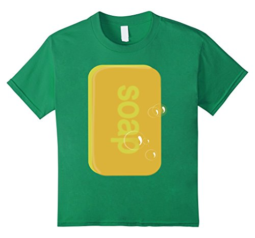 Soap And Loofah Costumes (Kids Soap bar   last minute funny Halloween costume tshirt 10 Kelly Green)