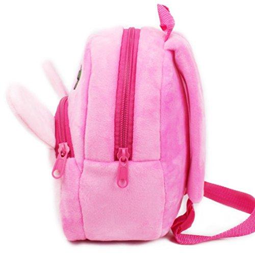 Kaninchen Rucksack, kleine Mädchen Kleinkind Mini Rucksack, URAQT niedlichen Kaninchen bequeme weiche Tasche, Geschenk für 1-2 Jahre alte Kinder für Outdoor / Sports / Camping / Picknick Rucksäcke