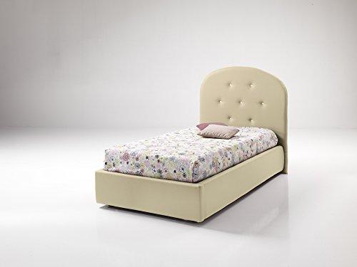 Dormire In Due Letto Singolo.Dormire Meglio Grace Letto Singolo Imbottito Con Contenitore