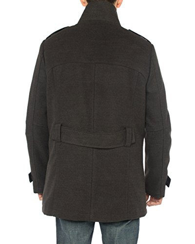 Luciano Natazzi Men's Stylish Top Coat Classic Double Breasted Pea Coat (44 US - 54 EU, Charcoal Gray) by Luciano Natazzi (Image #4)