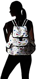 LeSportsac Voyager Back pack, Roadtrip Vaca Cream, One Size
