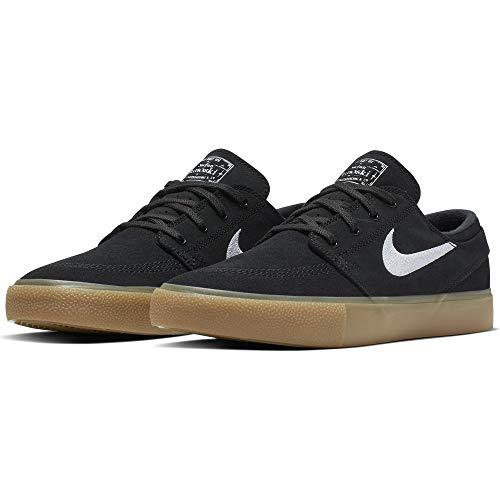 Nike SB Zoom Janoski RM Men's Shoes - AQ7475 (12 M US, Black/White-Gum Light Brown)