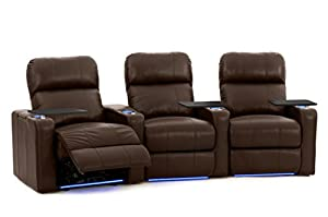 Turbo xl700 home theater seating octane seating brown leather power recline Home theater furniture amazon