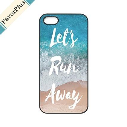 4387bd35cb2 FavorPlus iPhone 5/5S/SE Let's Run Away Sandy Beach Custom Personalized  Customized iPhone