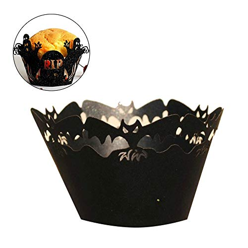 Cake Decorating Supplies - 24pcs Black Creepy Ghost
