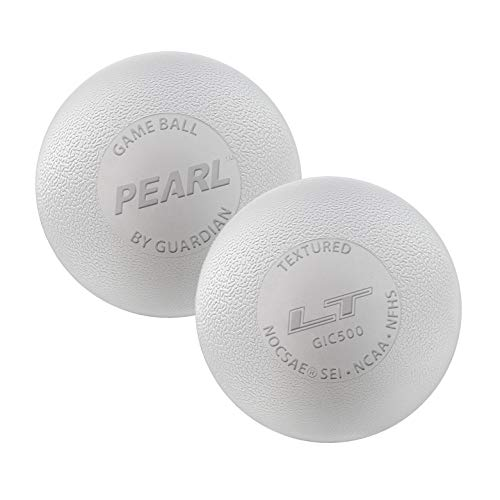 (Guardian Innovations The Pearl LT (White & Yellow Meets NOCSAE Standards and SEI/NCAA/NFHS Certified) - Official Ball of US Lacrosse & Team USA (White, 100 Pack))