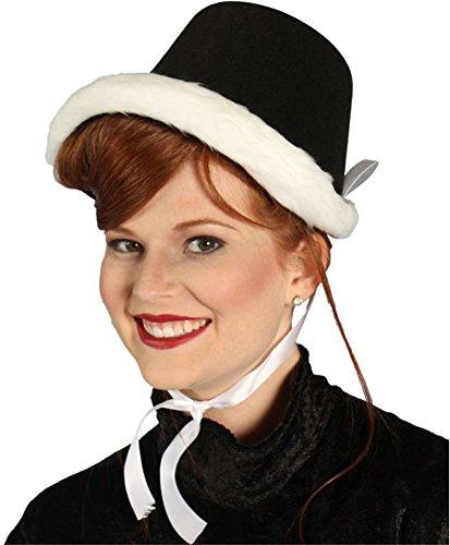 Alexanders Costumes Dickens Caroler Hat, Black, One Size