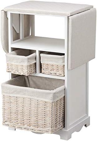 MONTEMAGGI - Mueble de planchado con tabla y 3 cestas de mimbre ...