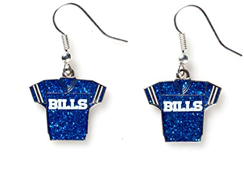 NFL Buffalo Bills Glitter Jersey Earrings
