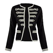 Women's Parade Steampunk Military Officer Napoleon Jacket