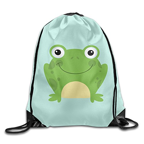 Circle Cute Frog Fashion Drawstring Bag Backpack Sackpack For Shopping Sport - Poison Frog Draw